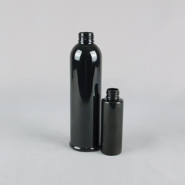 BLACK PLASTIC BOTTLES