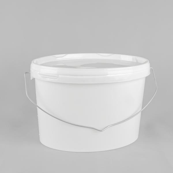 Oval White Plastic Bucket