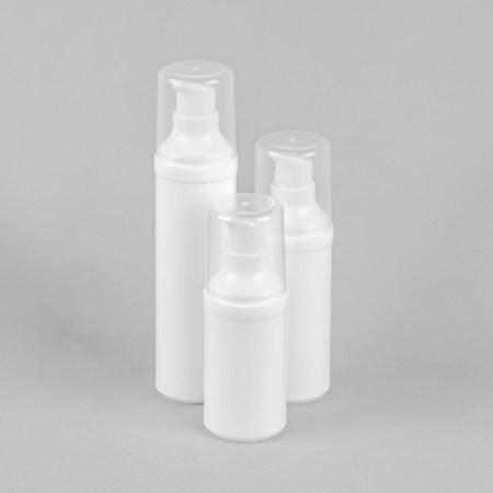Round white airless bottle