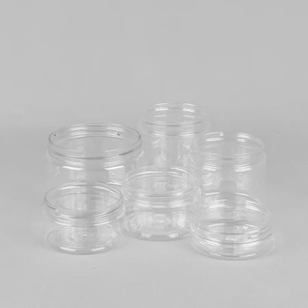 clear screw top plastic jars
