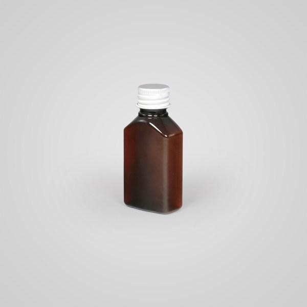 Rectangular Amber Bottle