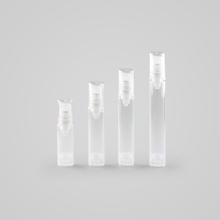 Round Clear Airless Bottle – Complete with Natural Pump