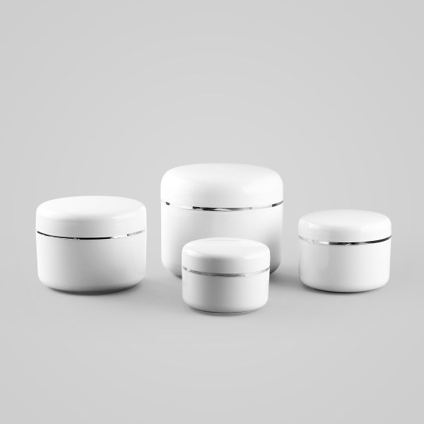 White Screwtop Jar