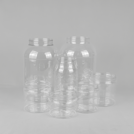 large clear screw top jars