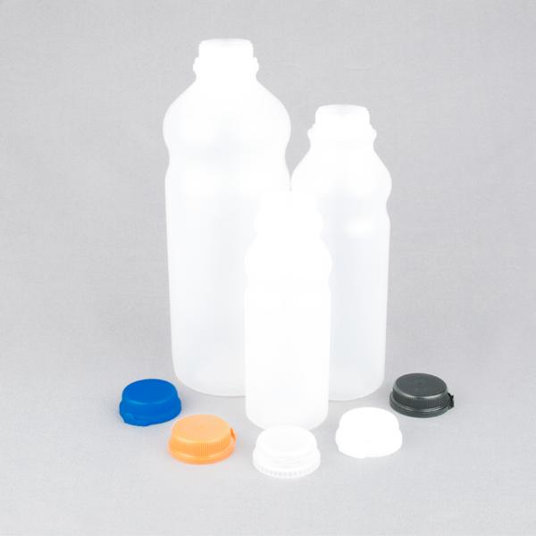Plastic juice bottles HDPE