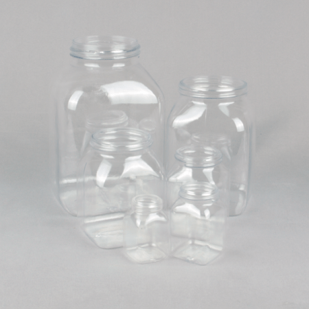 wide neck plastic container series 310 PETG