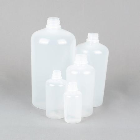 high shoulder plastic bottle