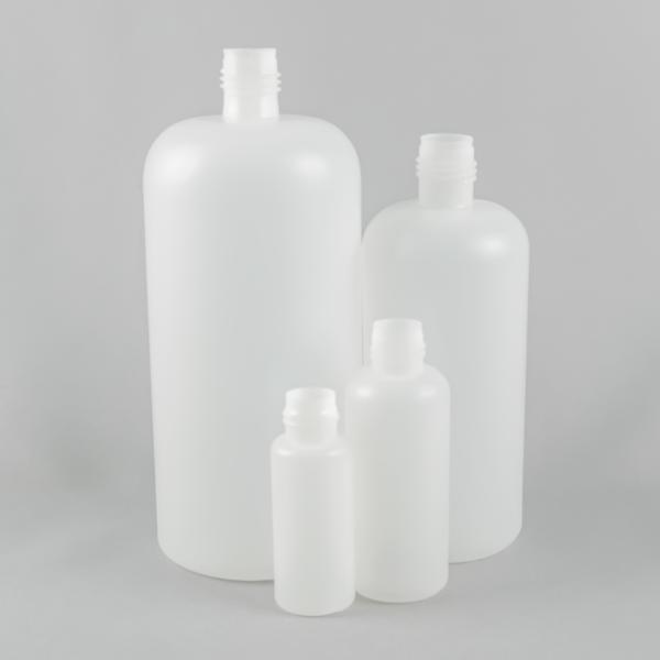round plastic bottles