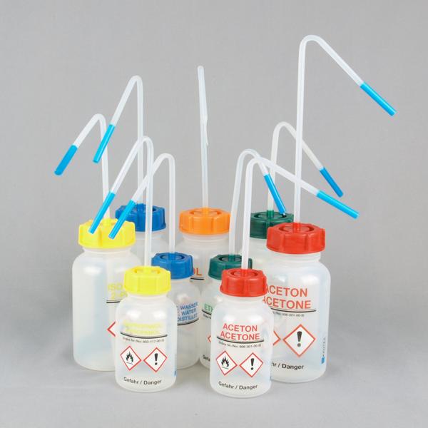 Laboratory safety wash bottles